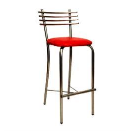 כסא בר מרופד בעיצוב חדשני רגלים וגב ממתכת דגם בואנוס איירס