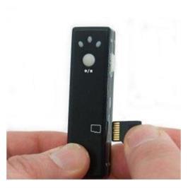 מצלמת ריגול זעירה עם מיקרופון MINI SPY DV CAM II +מתנה 2GB +מטען USB לרשת החשמל