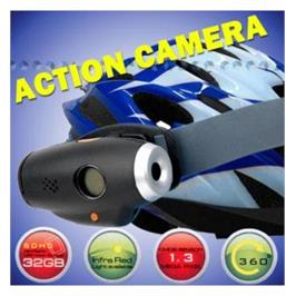 מצלמת ספורט EXTREEM לקסדה עם צילום וידאו ותמונות