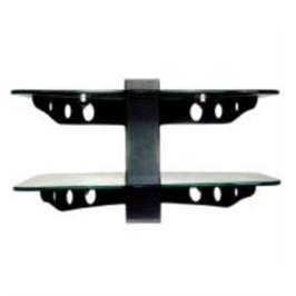 2 מדפי זכוכית שחורה מעוצבים במיוחד לממיר / DVD דגם SH-02 B