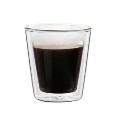 זוג כוסות קפה עם זכוכית כפולה למניעת כוויה ושמירה על חום