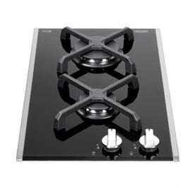 """כיריים גז דומינו ברוחב 30 ס""""מ משטח זכוכית שחורה 2 להבות תוצרת DELONGHI דגם NDG22"""