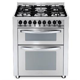"""תנור משולב כיריים דו תאי בעיצוב תעשייתי ואלגנטי ברוחב 70 ס""""מ תוצרת LOFRA דגם PUD76MFE/CI-2M"""