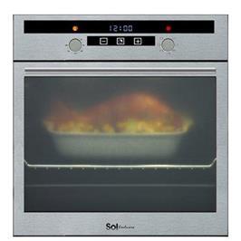 תנור אפיה בנוי TOUCH בנפח ענק 67 ליטר ללא תפרים תוצרת SOL דגם TH670