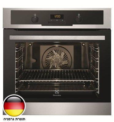 תנור אפיה בנוי 2D עם תא אפיה 74 ליטר גימור נירוסטה תוצרת Electrolux דגם EOB5417AOX