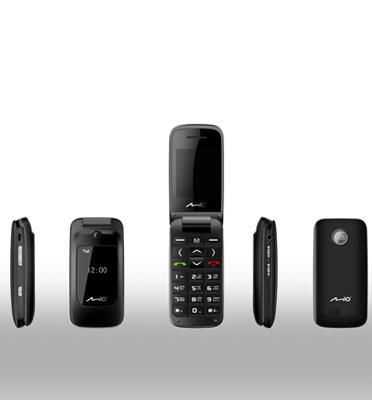 טלפון סלולרי צדפה עם הקראה קולית לספרות הטלפון תוצרת MIO דגם S510
