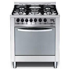 """תנור משולב כיריים ברוחב 70 ס""""מ כולל להבת טורבו תוצרת LOFRA דגם MS76MF/CI"""
