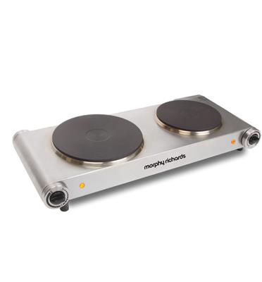 פלטת בישול כפולה חשמלית נירוסטה תוצרת Morphy Richards דגם 44724