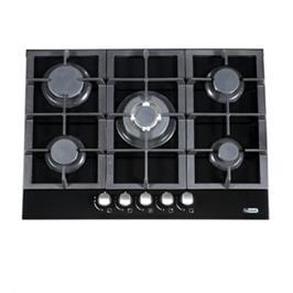 כיריים 5 להבות גז זכוכית שחורה להבה טורבו תוצרת LY VENT דגם HOT675