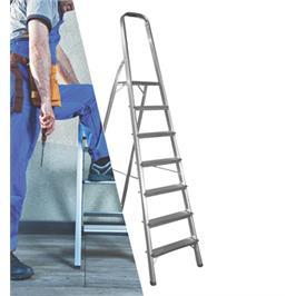 סולם אלומיניום 7 שלבים DIY ביתי תקני מבית KRAUSS דגם ST-0227