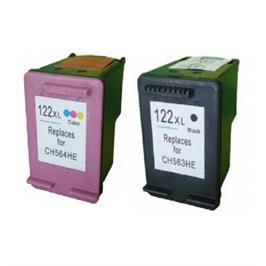סט דיו תואם חליפי HP דגם 122XL שחור וצבעוני מבית MATRIX