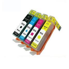 סט ארבעה ראשי דיו HP דגם 655 תואמים (שחור+ צבעוני) מבית MATRIX
