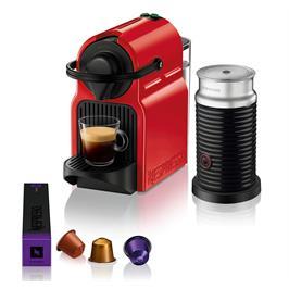 מכונת קפה NESPRESSO איניסייה - צבע אדום דגם C40 כולל מקציף חלב אירוצ'ינו