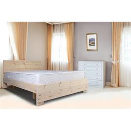 מיטה זוגית עשויה עץ אורן מלא חזק וטוב המשופר בצבע המיוחד לעץ מבית אולימפיה דגם שלגיה