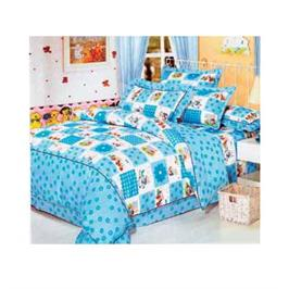 מערכת קיץ מפנקת למיטת תינוק  100% כותנה סאטן מבית LYTRADE דגם פרח כחול