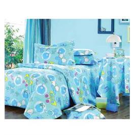 מערכת קיץ מפנקת למיטת תינוק 100% כותנה סאטן מבית LYTRADE דגם פרפר כחול