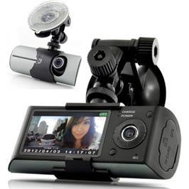 מצלמת HD לרכב עדשה כפולה משולבת GPS מבית MATRIX דגם X3000