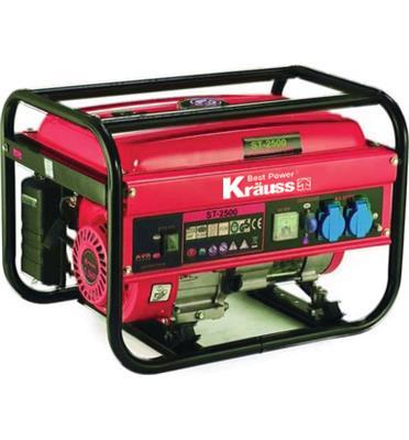 גנרטור בנזין 2200W וסת מתח אלקטרוני ומנגנון התראה מבית KRAUSS דגם KR-2500