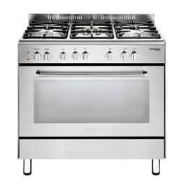 """תנור משולב כיריים מפואר 90 ס""""מ 5 להבות גז תוצרת Delonghi דגם NDS928X"""