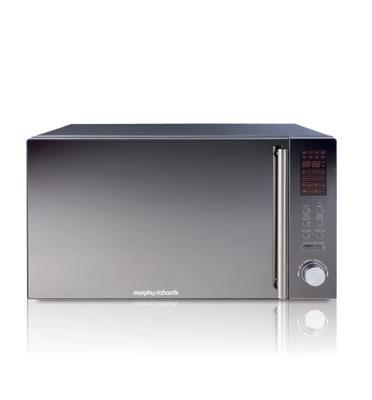 תנור מיקרוגל נירוסטה דלת מראה 25 ליטר, משולב גריל תוצרת MORPHY RICHARDS דגם 44566