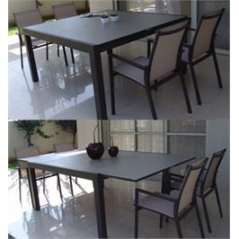 מערכת גן מיוחדת הכוללת שולחן מרובע 4 כיסאות תוצרת SCAB דגם EDEN