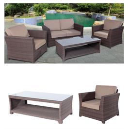 פינת ישיבה קסומה לגינה הכוללת ספה ו-2 ספות יחיד מבית SCAB. דגם viola