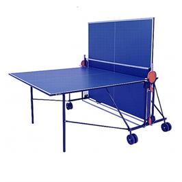 שולחן טניס תוצרת גרמניה לשימוש פנים קיפול צמוד +סט מחבטים וכדורים מבית GENERAL FITNESS דגם GFI