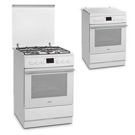 תנור אפיה משולב כיריים 4 להבות בגימור לבן תוצרת SAUTER דגם SAF1063W