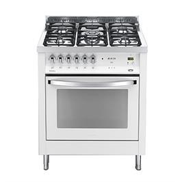 """תנור משולב כיריים 5 להבות כולל להבת טורבו ברוחב 70 ס""""מ צבע לבן תוצרת LOFRA דגם PBP76MF/CI"""