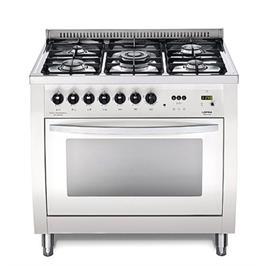 """תנור משולב כיריים ברוחב 90 ס""""מ בנפח 94 ליטר בצבע לבן תוצרת LOFRA דגם CSBG96MF/CI"""