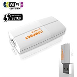 כרטיס רשת אלחוטי בחיבור USB - מהירות 300mbps, תקן N, כולל WPS מובנה תוצרת MATRIX דגם mat835