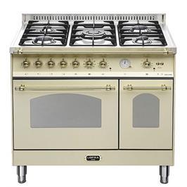 """תנור משולב כיריים דו תאי בעיצוב כפרי ברוחב 90 ס""""מ תוצרת LOFRA. דגם RBID96MFE/CI"""