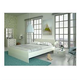 חדר שינה כולל מיטה, שתי שידות לילה, שידת איפור ומראה תוצרת Instyle דגם אריסטו