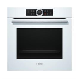 תנור אפיה בנוי 13 תכניות סגירת ופתיחת דלת רכה בצבע לבן סדרה 8 תוצרת בוש דגם HBG634BW1