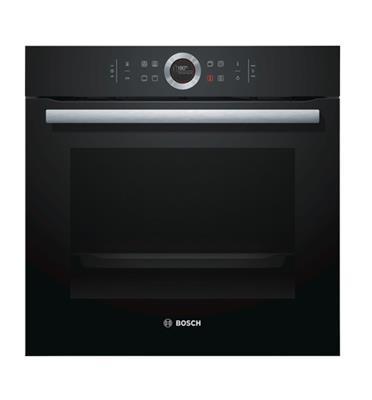 תנור אפיה בנוי 13 תכניות סגירת ופתיחת דלת רכה בצבע שחור מסדרה 8 בוש דגם HBG634BB1