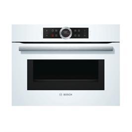 """תנור קומפקטי משולב מיקרוגל גובה 45 ס""""מ בצבע לבן מסדרה 8 תוצרת בוש דגם CMG633BW1"""