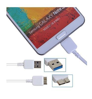 כבל טעינה וסנכרון USB3 לגלקסי S5,NOTE3 המקורי!  לטעינה המהירה ביותר וסנכרון נתונים מהיר