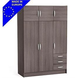 ארון 3 דלתות ותאי אחסון + שידת מגירות חיצונית תוצרת אירופה HOME DECOR דגם מאגנום