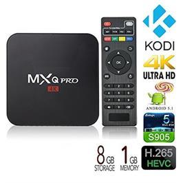 סטרימר SMART TV 4K עם MXQ-PRO-4K מעבד 4 ליבות מערכת הפעלה אנדרואיד 5.1 כולל KODI מותקן WIFI
