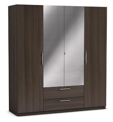 ארון ענק 4 דלתות כולל מראות ומגירות תוצרת צרפת HOME DECOR דגם יופיטר