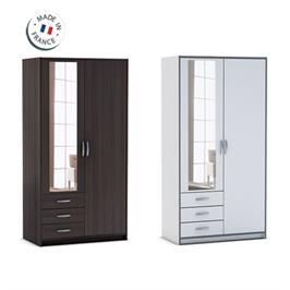 ארון 2 דלתות כולל מראה ומגירות תוצרת צרפת HOME DECOR דגם מרס
