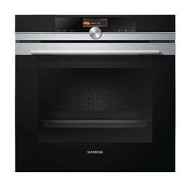 תנור בנוי פירוליטי סגירת דלת רכה בגימור נירוסטה תוצרת סימנס דגם HB676GBS1