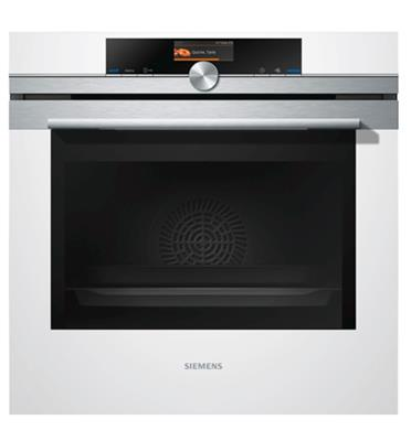 תנור אפיה בנוי 13 תכניות פירוליטי לבן מסדרת iQ700 SIEMENS דגם HB676GBW1Y
