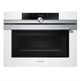 תנור בנוי קומפקטי 45 ליטר משולב מיקרוגל צבע לבן מסדרת iQ700 תוצרת סימנס דגם CM633GBW1