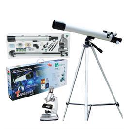 טלסקופ הגדלה פי 30 כולל מיקרוסקופ לילדים פי 450