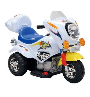 אופנוע ממונע לילדים 6V מדליק אורות ומנגגן בעל הנעה קידמית ואחורית מתאים לילדים דגם AERO