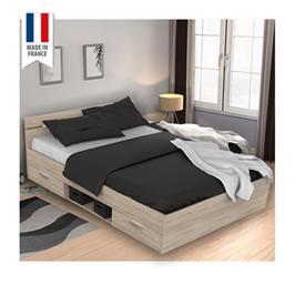 מיטה זוגית עם מגירות ותא אחסון תוצרת צרפת HOME DECOR דגם מישיגן לארג'