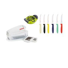 סט 6 סכינים קוצץ ירקות ופורס ביצים תוצרת TRAMONTINA דגם Set 7