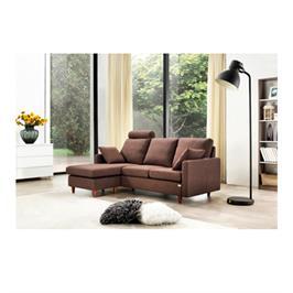 ספה פינתית מבד מיקרופייבר איכותי עם הדום ומושבים נפרדים הניתנים להחלפה תוצרת BRADEX דגם  URBAN