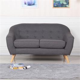 ספה דו מושבית מעוצבת לבית או למשרד עשויוה בד איכותי תוצרת BRADEX דגם SOHO